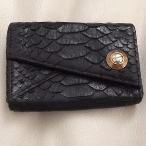 Authentic Black Snake Skin Coin Purse/Card Holder
